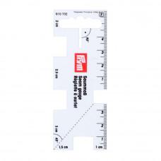 610736 Линейка для разметки припусков, металл Prym